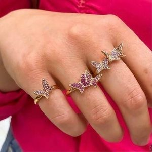 New Size 8 Swarovski Lilia Butterfly Ring Set
